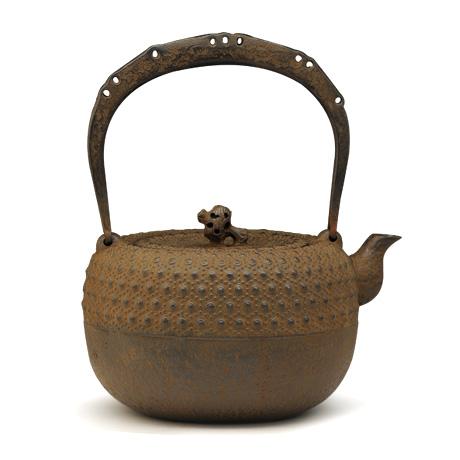 清茂作 18型小槌龜甲紋鐵壺