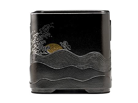 四方形黑底海浪風爐